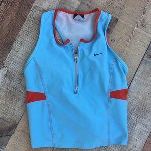 Nike Small racerback zipper front top